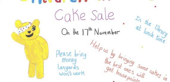 Children in Need Cake Sale – 17th November