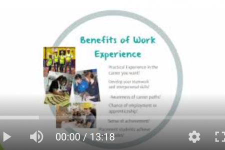 Work Experience Overview – Presented by Mr C Holmes