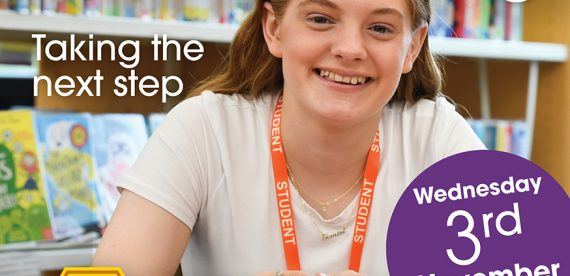 6th Form Open Evening –Wednesday 3rd November from 5.00pm to 8.00pm